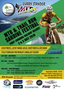 PEHR Burry Stander MTB & Trail Run Sardine Festival 2016 poster RGB